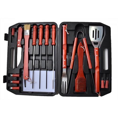 1+1 Δώρο 17τεμ Εργαλεία για μπάρμπεκιου Ανοξείδωτο χάλυβα Forall BBQ PTS17N