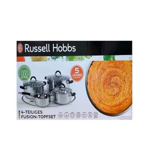 Σετ αντικολλητικά μαγειρικά σκεύη από ανοξείδωτο ατσάλι 7 τεμ Russell Hobbs SC1220
