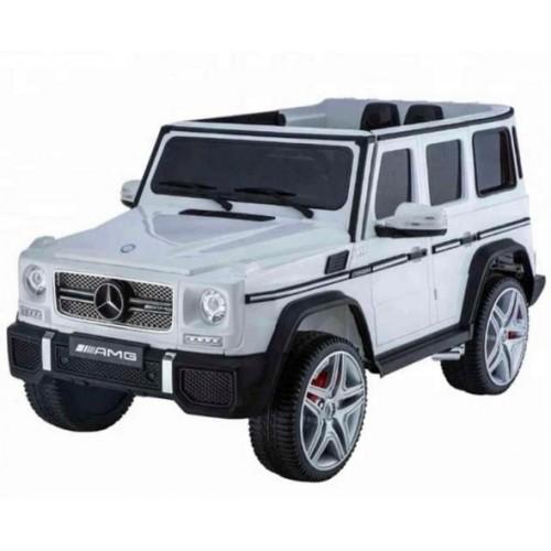 Ηλεκτροκίνητο Παιδικό Αυτοκίνητο Lecensed Mercedes Benz G65 AMG 12V Με δερμάτινα καθίσματα και Ελαστικά EVA σε λευκό Χρώμα 147369
