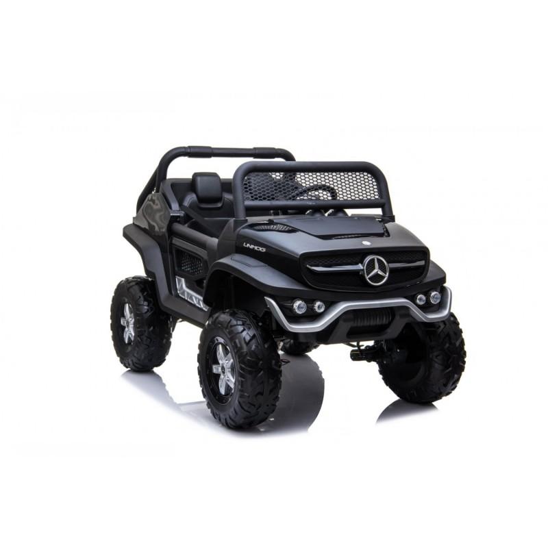 Ηλεκτροκίνητο Παιδικό Αυτοκίνητο Lecensed Mercedes Benz Unimog 12V Με δερμάτινα καθίσματα Ελαστικά EVA και οθόνη MP4 σε Μαύρο Χρώμα 564231