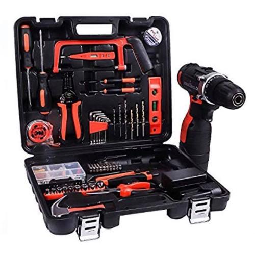 Σετ κρουστικό δράπανο με εργαλεία και εργαλειοθήκη JF001
