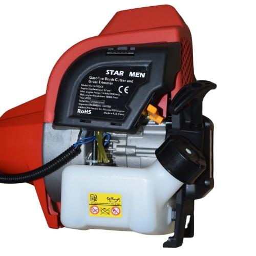 Θαμνοκοπτικό - Χορτοκοπτικό βενζίνης 52CC/2HP STAR - MEN SLN52C3