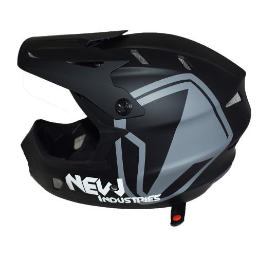 Full Face Κράνος ποδηλάτου BMX Freeride - Downhill ΜΟΟΝ KS05 matt Black
