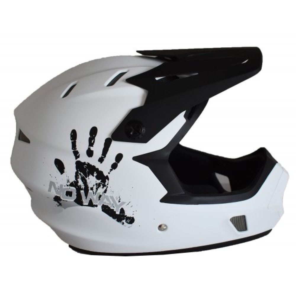 Full Face Κράνος ποδηλάτου BMX Freeride - Downhill ΜΟΟΝ KS05 matt White