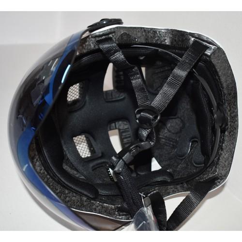 Κράνος με προστατευτικά γυαλιά και αποσπώμενο γείσο για ηλεκτροκίνητο Ποδήλατο Πατίνι Scooter Ski Snowboard Sledge FT03 matt White