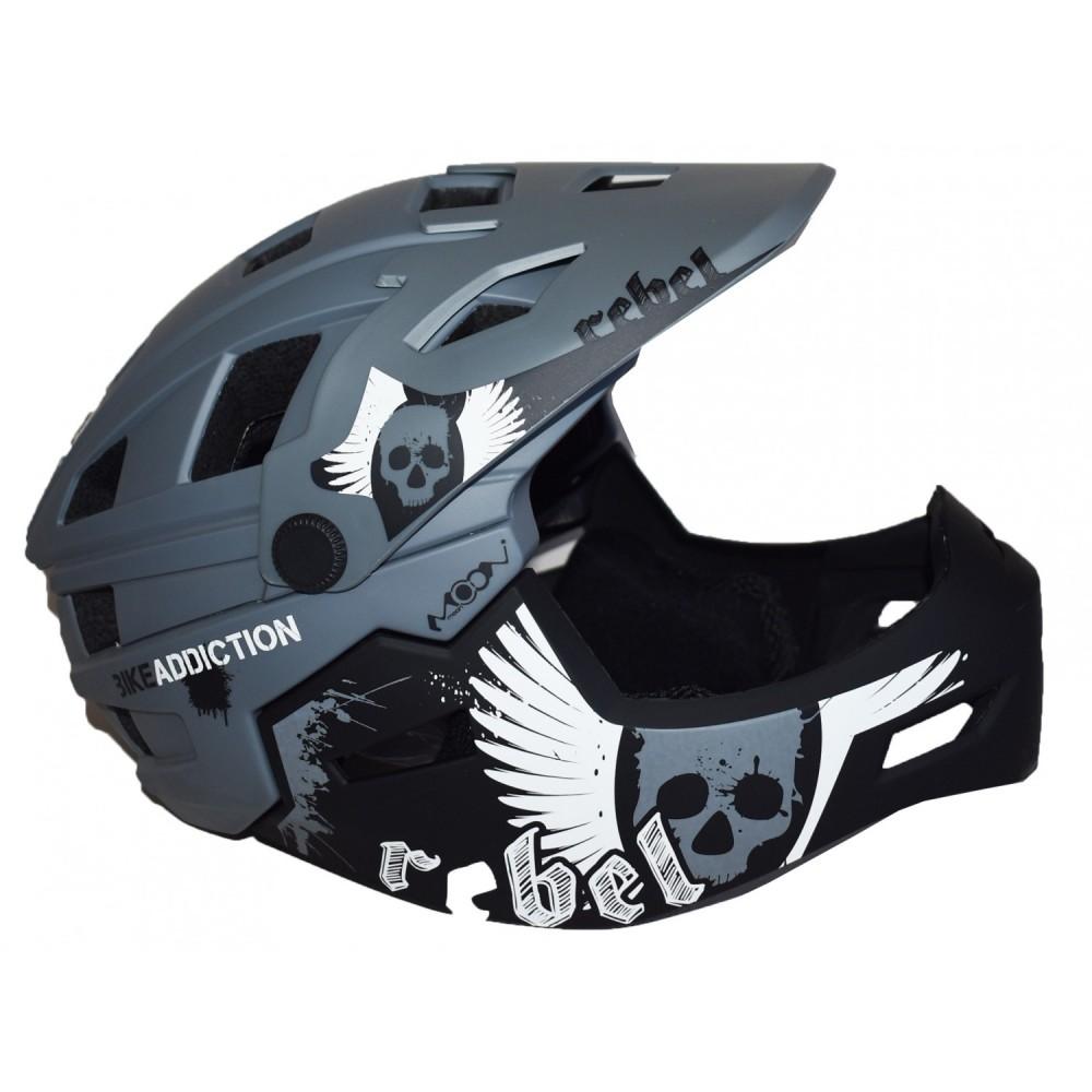 Full Face Κράνος ποδηλάτου BMX Freeride - Downhill ΜΟΟΝ KS11 matt Grey