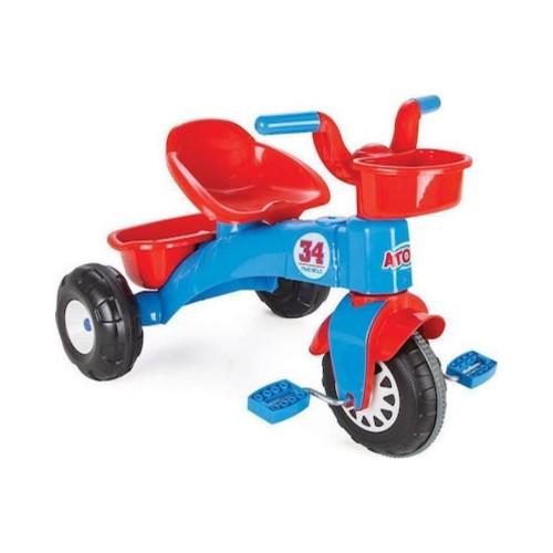 Παιδικό Τρίκυκλο Ποδηλατάκι Atom Μπλε-Κόκκινο Pilsan 07-169