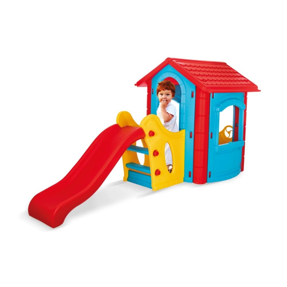 Παιδικό Σπιτάκι Με Τσουλήθρα Μπλε-Κόκκινο Pilsan 06-432