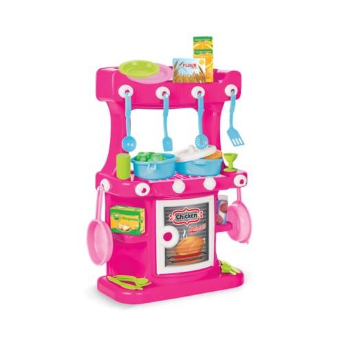 Παιδική Πλαστική Κουζίνα Pilsan Ροζ 03-335