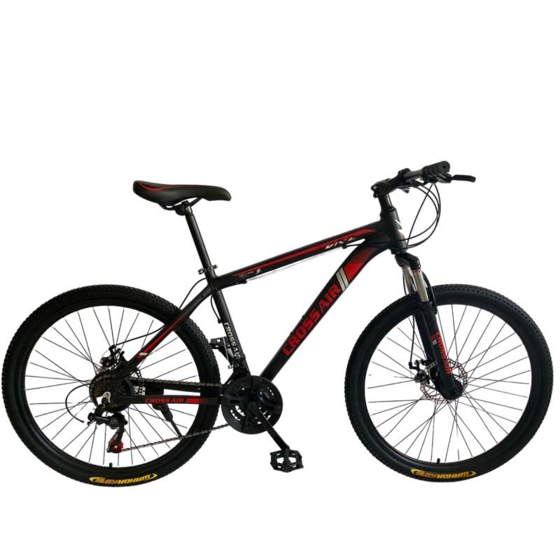 Ποδήλατο Mountain Hardtail 26″ Cross Air Μαύρο - Κόκκινο CS-905