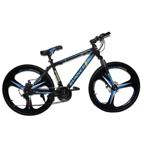 Ποδήλατο Mountain Hardtail 26″ Runner Mag Wheels Μαύρο - Μπλε RN-905-MGW