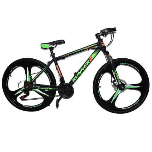 Ποδήλατο Mountain Hardtail 26″ Runner Mag Wheels Μαύρο - Πράσινο RN-905-MGW