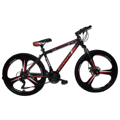 Ποδήλατο Mountain Hardtail 26″ Runner Mag Wheels  Μαύρο - Κόκκινο RN-905-MGW
