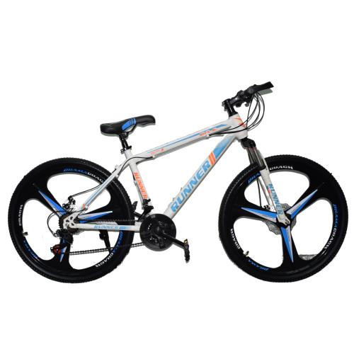Ποδήλατο Mountain Hardtail 26″ Runner Mag Wheels Λευκό - Μπλε RN-905-MGW