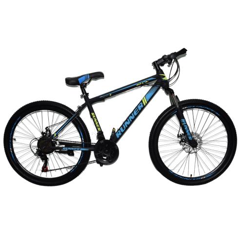 Ποδήλατο Mountain Hardtail 26″ Runner Μαύρο - Μπλε RN-805