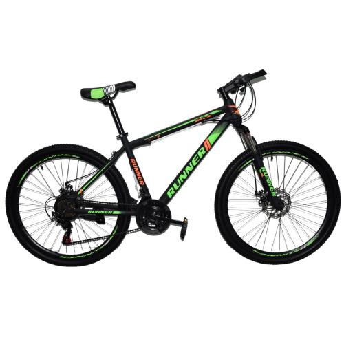 Ποδήλατο Mountain Hardtail 26″ Runner Μαύρο - Πράσινο RN-805