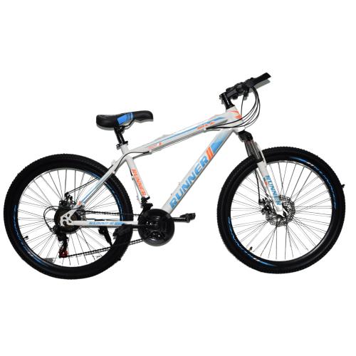 Ποδήλατο Mountain Hardtail 26″ Runner Λευκό - Μπλε RN-805