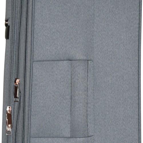 Βαλίτσα Ταξιδιού Μεσαία Υφασμάτινη με Τηλεσκοπικό Χερούλι και Ροδάκια σε Γκρι  χρώμα MS1527R-M