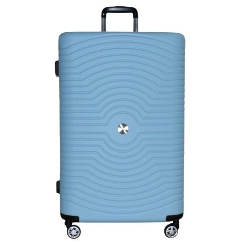 Βαλίτσα Ταξιδιού Μεγάλη ABS με Τηλεσκοπικό Χερούλι και Ροδάκια σε Γαλάζιο χρώμα MS2196-L