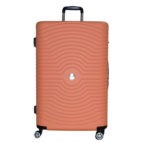 Βαλίτσα Ταξιδιού Μεγάλη ABS με Τηλεσκοπικό Χερούλι και Ροδάκια σε Πορτοκαλί χρώμα MS2196-L