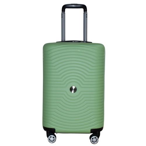 Βαλίτσα Ταξιδιού Καμπίνας ABS με Τηλεσκοπικό Χερούλι και Ροδάκια σε Πράσινο χρώμα MS2196-S