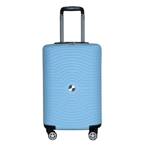 Βαλίτσα Ταξιδιού Καμπίνας ABS με Τηλεσκοπικό Χερούλι και Ροδάκια σε Γαλάζιο χρώμα MS2196-S