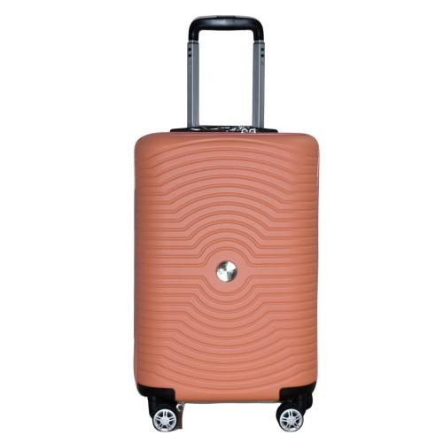 Βαλίτσα Ταξιδιού Καμπίνας ABS με Τηλεσκοπικό Χερούλι και Ροδάκια σε Πορτοκαλί χρώμα MS2196-S
