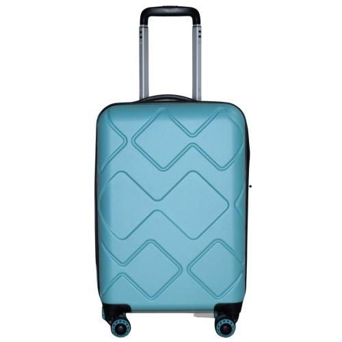 Βαλίτσα Ταξιδιού Καμπίνας ABS με Τηλεσκοπικό Χερούλι, Ροδάκια και Κλείδωμα Ασφαλείας σε Γαλάζιο χρώμα MS2266-S