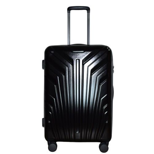 Βαλίτσα Ταξιδιού Μεσαία ABS με Τηλεσκοπικό Χερούλι, Ροδάκια και Κλείδωμα Ασφαλείας σε Μαύρο χρώμα MS2408-M