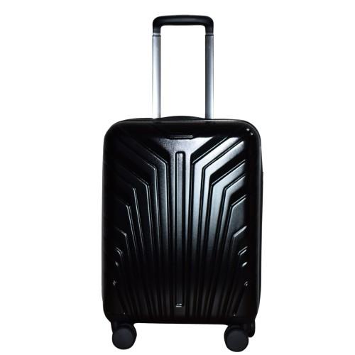 Βαλίτσα Ταξιδιού Καμπίνας ABS με Τηλεσκοπικό Χερούλι, Ροδάκια και Κλείδωμα Ασφαλείας σε Μαύρο χρώμα MS2408-S