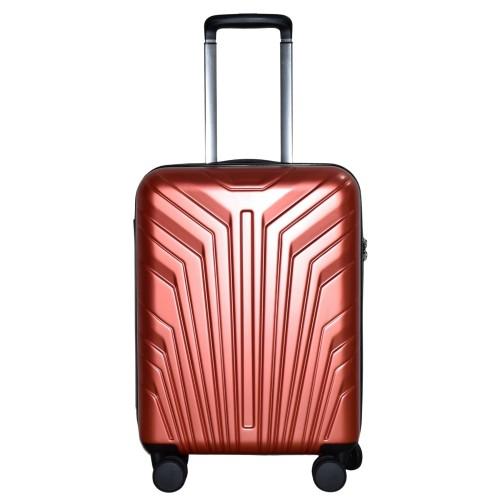 Βαλίτσα Ταξιδιού Καμπίνας ABS με Τηλεσκοπικό Χερούλι, Ροδάκια και Κλείδωμα Ασφαλείας σε Κόκκινο χρώμα MS2408-S