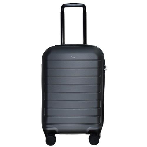 Βαλίτσα Ταξιδιού Καμπίνας ABS με Τηλεσκοπικό Χερούλι, Ροδάκια και Κλείδωμα Ασφαλείας σε Γκρι χρώμα MS2421-S